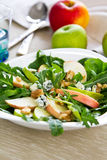Apple,Rocket and Blue cheese salad Stock Photography