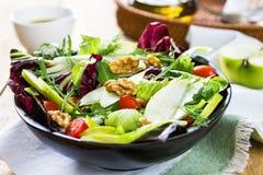 Apple with Rocket and Walnut salad Stock Photo