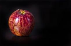 Apple rojo en negro fotos de archivo