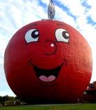 Apple rojo grande Fotografía de archivo libre de regalías
