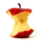 Apple rojo mordido Imagen de archivo