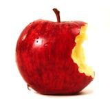 Apple rojo mordido Fotografía de archivo