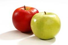 Apple rojo y verde Foto de archivo libre de regalías