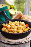 Apple and root vegetable hash Stock Photo