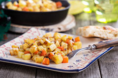 Apple and root vegetable hash Royalty Free Stock Image