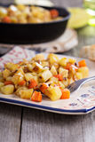 Apple and root vegetable hash Royalty Free Stock Photography