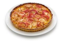 Apple rose tart Stock Image