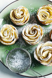 Apple roses. Cakes Apple Roses made from puff pastry with apple Royalty Free Stock Photo
