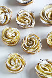 Apple roses. Cakes Apple Roses made from puff pastry with apple Royalty Free Stock Images