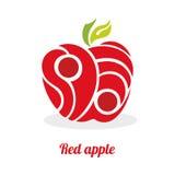 Apple rosso astratto su un fondo bianco Fotografie Stock Libere da Diritti
