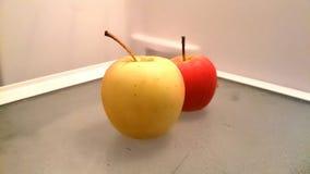 Apple rosso e giallo Fotografia Stock