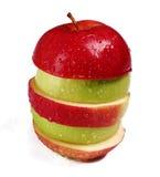Apple rosso e verde immagini stock libere da diritti