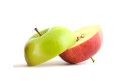 Apple rosso e verde Immagine Stock Libera da Diritti