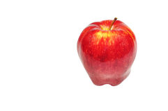 Apple rosso isolato su bianco Fotografie Stock Libere da Diritti