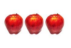 Apple rosso isolato su bianco Fotografia Stock Libera da Diritti