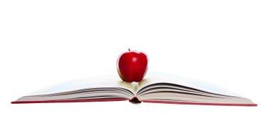 Apple rosso sull'atlante immagine stock
