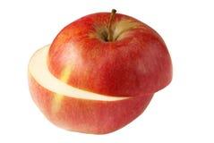 Apple rouge découpé en tranches avec le chemin de découpage Photo stock