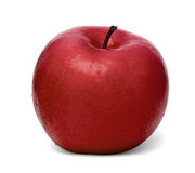 Apple rouge d'isolement sur un fond blanc Photos stock