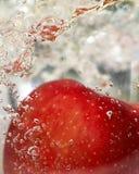 Apple rouge dans l'eau Photos libres de droits