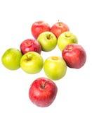 Apple rouge et vert III Photo stock