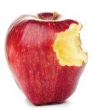 Apple rouge mordu Image libre de droits