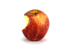 Apple rouge mordu photos stock