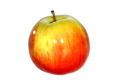 Apple rouge sur le fond blanc Photographie stock