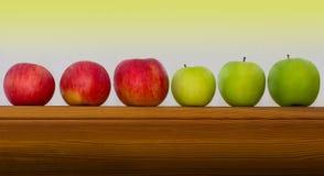 Apple row Stock Photos