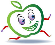 Apple run. Illustrated cartoon image of apple run vector illustration