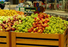 Apple rynek w supermarkecie Zdjęcia Royalty Free