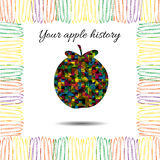 Apple's history.Vector illustration. Drawn idea Royalty Free Stock Photos