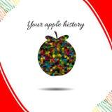 Apple's history.Vector illustration. Drawn idea Royalty Free Stock Photography