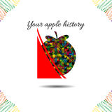 Apple's history.Vector illustration. Drawn idea Royalty Free Stock Images