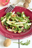 Apple salad with walnuts, pumpkin seeds and arugula Stock Images