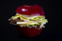 Apple sandwich Stock Photography