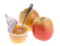 Apple sauce and apples Royalty Free Stock Images