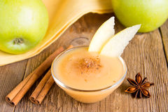 Apple sauce with cinnamon Stock Photography