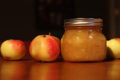 Apple sauce. Made on organic farm Royalty Free Stock Photos