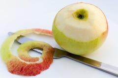 Apple sbucciato Immagine Stock