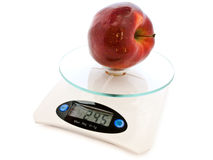 Apple at scale Royalty Free Stock Images