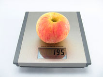 Apple scale Royalty Free Stock Images