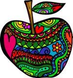 Apple scarabocchia illustrazione vettoriale