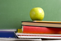 Apple and School books Royalty Free Stock Photos