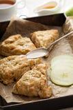 Apple scones με το λούστρο Στοκ Εικόνα