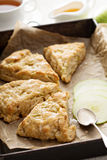 Apple scones with glaze Royalty Free Stock Photography