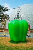 The apple sculpture Stock Photography