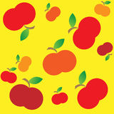 Apple seamless. Seamless texture of apples with leaves. Vector illustration royalty free illustration