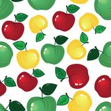 Apple seamless background Stock Photo