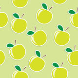Apple seamless background Stock Images