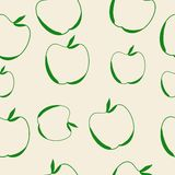 Apple Seamless Background. Vector Illustration Stock Images